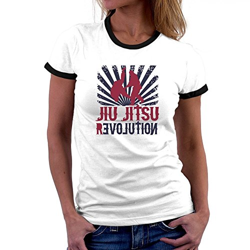 Revolution Ringer T-shirt (Teeburon Jiu Jitsu REVOLUTION Ringer Damen T-Shirt)