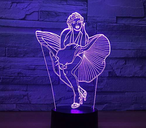 Singer Modello 3D Usb Night Light Telecomando Touch Lampada Da Tavolo Led Atmosfera Emotion Light Regalo Di Natale