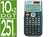 Citizen SR-270X College - Calculadora (bolsillo, Batería/Solar, Scientific calculator, Negro, Botones, CR2032)