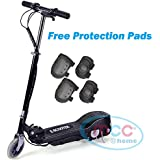 Electric E Scooter Ride on Rechargeable Battery Height Adjustable 120W 24V (Pink