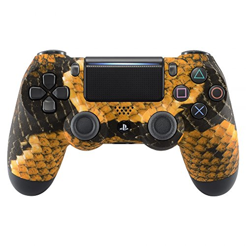 eXtremeRate Gold Dragon Scales Soft Touch Front Cover Cover Shell per Playstation 4 PS4 Slim PS4 Pro Controller (JDM-040 JDM-050 JDM-055)