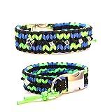 Paracord Halsband - Zick Zack, Hundehalsband, wahlweise mit Gravur und weiteren Extras