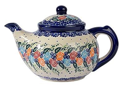 traditionnel polonais poterie, fabriqué à la main en céramique 7tasses Théière avec couvercle (1350ml), H.101