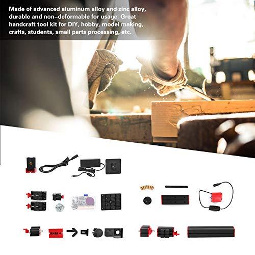 Acogedor 6-in-1-Minidrehmaschine, motorisierter Stichsägenschleifer, Mehrzweck-Minidrehmaschinensatz für die Selbstmontage von Sägemaschinen, Schleifmaschinen, Bohrmaschinen, Holzdrehmaschinen,