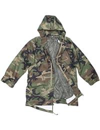 Non émis US Army Woodland Camo cargo zippée sur l'avant sur la Veste Parka à capuche et doublure détachables