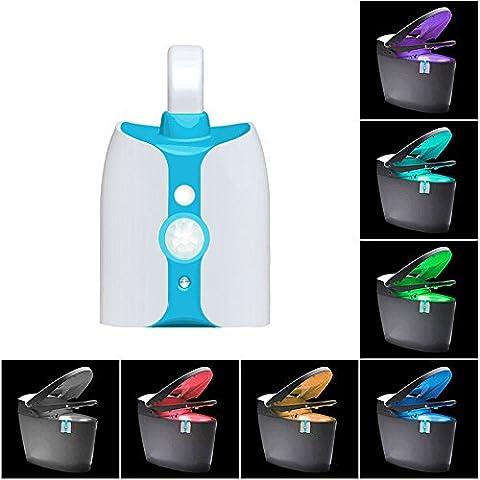 Fancy Cheery® 2017Produit neuf WC Veilleuse Capteur de mouvement avec protection UV Anti-Virus 8à changement de couleur 5Stage Variateur luminosité de salle de bain lumière de nuit