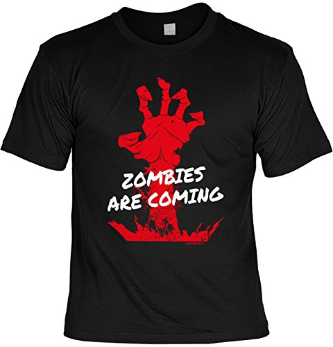 Gruseliges Halloween Fun T-Shirt - Zombies are coming - Unisex, Farbe: (Halloween Kostüme Last Minute Zombie)
