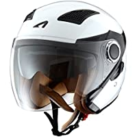 Astone Helmets fibra, Casco Jet, color Gloss Blanco, talla XXXL