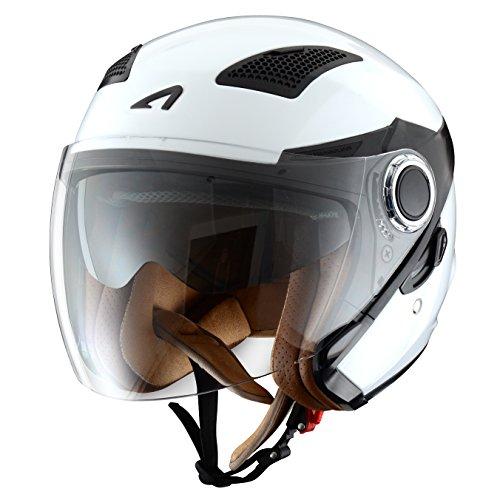 Astone-FJ10M-WHS-Helmets-Casco-Jet-FJ10-fibra-bianco-taglia-S