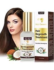 Hair Sérum, Anti Chute de Cheveux, Sérum de cheveux à la noix de coco, Contre l'amincissement et la perte de cheveux,essence de croissance pour cheveux plus saine