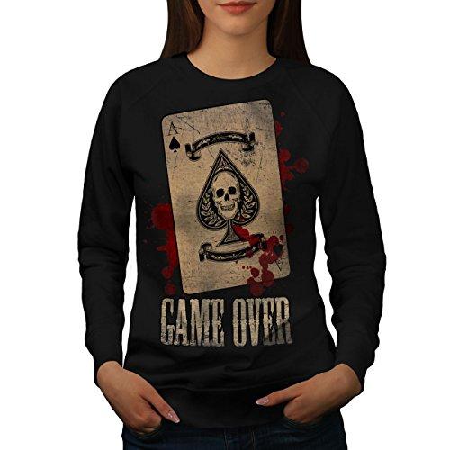 Toi Perdre Squelette Femme S-2XL Sweat-shirt   Wellcoda Noir