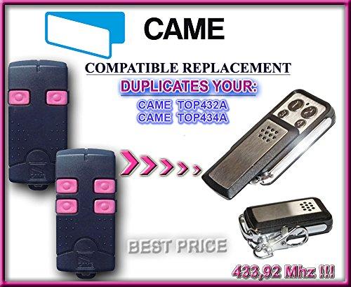 Came TOP432A/top434a trasmettitore di sostituzione compatibile della telecomando, 433.92MHz/Fixed codice Keyfob