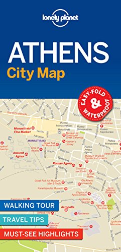 Lonely Planet Athens City Map