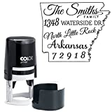 Personalisierte Arkansas Map Adress Stempel Kundenspezifischer Selbst Inking Stempel Familie / Geschäftsadresse