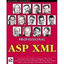 Professional ASP XML by Mark Baartse (2000-01-01)