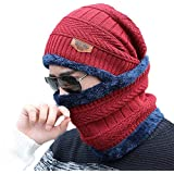 HUNTSMANS ERA Winter Woolen Cap with Neck Scarf for Men and Women/Winter Caps for Men/Woolen Cap