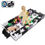 Alfombra de Juego con Bordes Kids Safe Infantil Playground Soft Acolchado de Suelo para niños Protección EVA Foam Interlocking Tiles Animales no tóxicos (Alfombras puzle1)