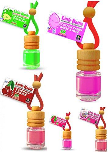 Preisvergleich Produktbild 5 Stück elegante Duftflakons fürs Auto Autoduft Lufterfrischer Topseller Mix: Apple, Bubble Gum, Cherry, Cotton Candy Watermelon