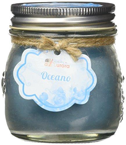 Velas de Aurora Anna perfumada con jarrón de cristal y tapa, cera, az