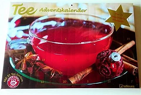 Tee Adventskalender von TEEKANNE 25 verschiedene Teesorten 2017
