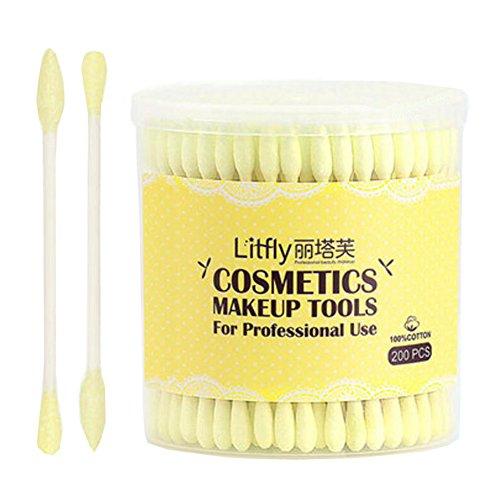 200-stuck-kosmetik-make-up-tools-wattestabchen-multifunktions-tupfer-gelb