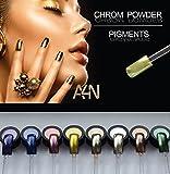 Chrom Powder Gold, Chrom Effekt Nägel, Spiegel Pulver, Pigment