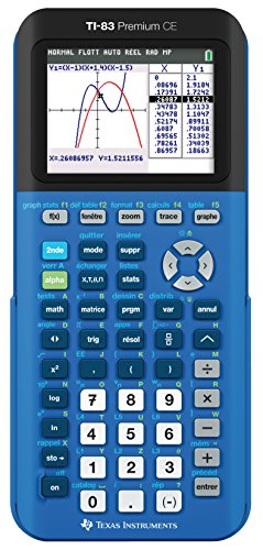 Texas Instruments TI-83 Premium CE BLUE Calculatrice Graphique