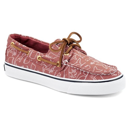 Sperry Top-Sider, Scarpe con lacci, donna Washed Red Whale Critter