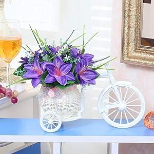 Xin Pang Simulación De Flores Artificiales Flores Adornos del Coche Dormitorio Casa De Plástico Pequeños Adornos Bouquet…