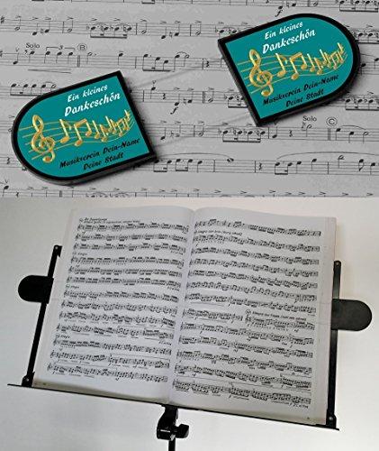 Preisvergleich Produktbild Notenhaltefix, hält die Notenblätter am Notenständer auch bei Wind, Notenblatthalter, Notenklammer