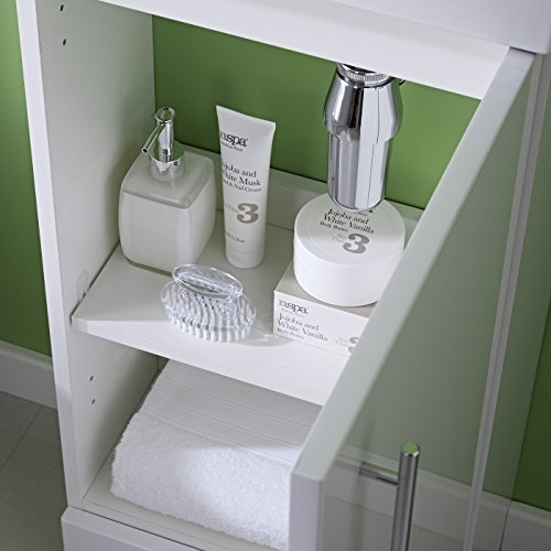 white floor standing vanity unit 400mm with bas
