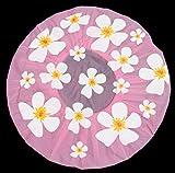 Duschhaube Pink Shower Cap Blumen-Motiv