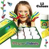 Happlee colori a dita, lavabile, per bambino, pitture 12 cols multicolor