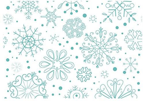 xw09Frozen Schneeflocken xmas Weihnachten A4-silikonformkuchendekoration, Kuchen Topper Tapete Hintergrund Kuchen Wrap Essbar Board Motiv