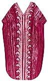 LA LEELA Femmes Coton Longue Kaftan Tunique Kimono Batik Grande Taille Robe pour Loungewear Vacances Vêtement de Nuit Plage Tous Les Jours Haut Robes Maxi Caftan Rose_U929