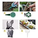 YISSVIC Outils de Jardinage 12 Pièces Outils de Jardin avec Sac...