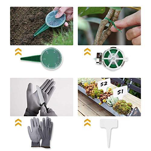YISSVIC Outils de Jardinage 12 Pièces Outils de Jardin avec...