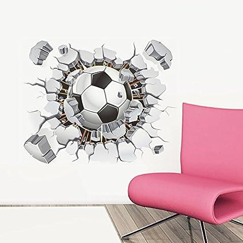 ZPL Pumi estéreo 3D fútbol dormitorio salón decoración etiqueta de la pared 60 * 90cm , 40*50cm