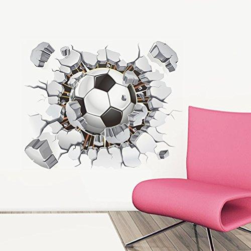 (ZPL Pumi Stereo 3D Fußball Schlafzimmer Wohnzimmer Dekoration Wandtattoo 60 * 90cm , 40*50cm)