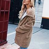 Weiwei Damen Damen wärmen künstliche Wolle Mantel Reißverschluss Jacke Winter Parka Oberbekleidung