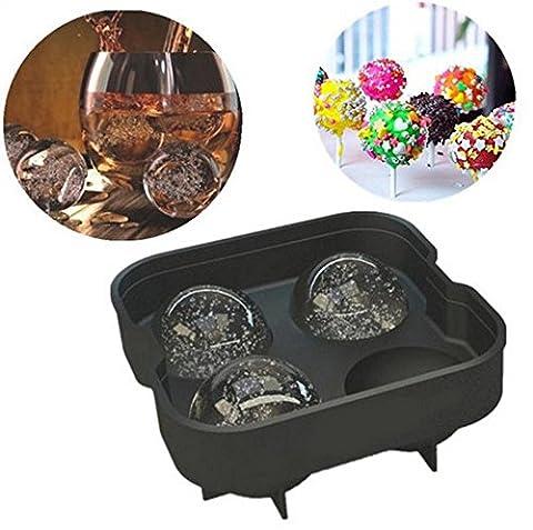 readimax £ ¨ TM) 1pièce 4trou rond Balle Whisky Ice Cube Brique Maker Moule Moule à Glace crème fabricants