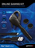 Gioteck OGKPS4-11-MU Online Gaming Kit für PS4 (Wired Chat Headset, Ladekabel, Daumengriffe) Playstation 4 Schwarz