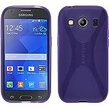 Funda de silicona para Samsung Galaxy Ace 4 - X-Style púrpura - Cover PhoneNatic Cubierta + protector de pantalla