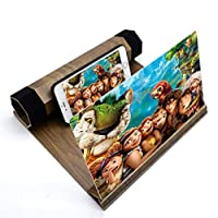 ‏‪LIUXIN 12-inch Phone Screen Amplifier - Wood Grain HD 3d Video Amplifier - Multi-color Optional (Color : Black)‬‏