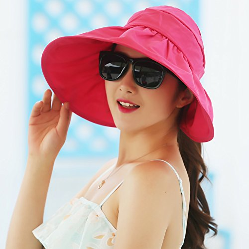 ZHANGYONG*Femme d'été crème solaire pac air extérieur pare-soleil haut Fast dry maximum UV le long de la face noire fois beach , Sun Hat Purple Le rouge
