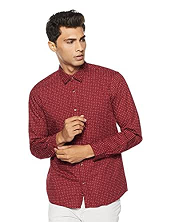 Ruggers by Unlimited Men's Printed Regular Fit Casual Shirt