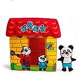 Ich Liebe Meine Familie Palm Buch Kinderspielzeug Frühes Bildungspuzzle Buch 3D Interaktives Spielzeug Sicher Und Ungiftig Keine Angst Vor Dem Zerreißen Kann Waschen