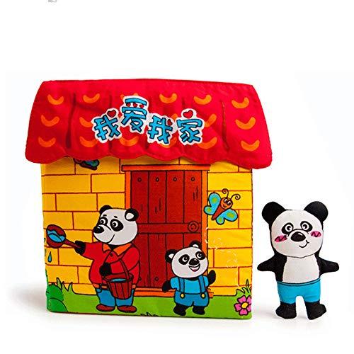 Ich Liebe Meine Familie Palm Buch Kinderspielzeug Frühes Bildungspuzzle Buch 3D Interaktives Spielzeug Sicher Und Ungiftig Keine Angst Vor Dem Zerreißen Kann Waschen (Bausteine Party-platten)