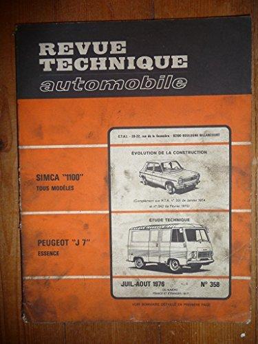 Descargar Libro RTA0358 - REVUE TECHNIQUE AUTOMOBILE PEUGEOT J7 Essence de ETAI