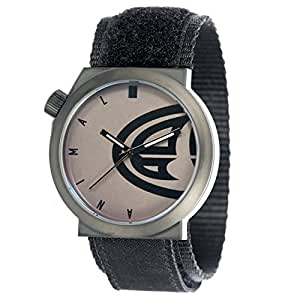 Animal Hang Ten Men's Quartz Watch with Black Dial Analogue Display and Black Fabric Strap WW3WC013 - 002 - O/S